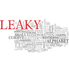 Leaky word cloud concept vector