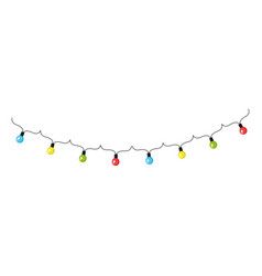lights garlands hanging icon vector image