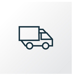 lorry outline symbol premium quality isolated vector image
