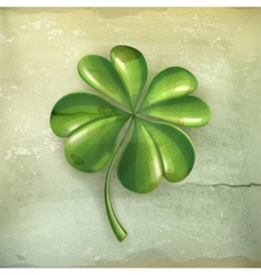 Lucky clover old-style vector image