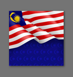 Malaysian patriotic festive background template vector