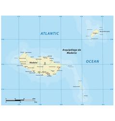 Map portuguese archipelago madeira vector