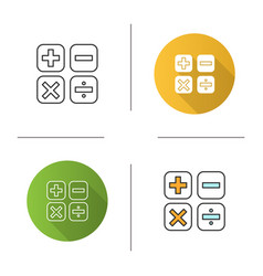 maths symbols icon vector image