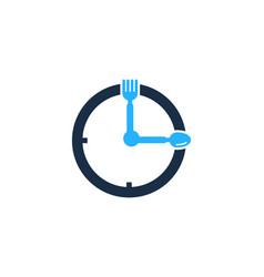 menu time logo icon design vector image
