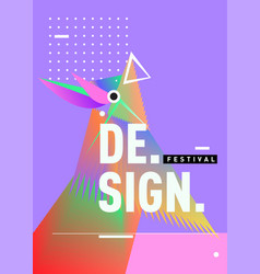 Minimalist covers design cool geometric gradients vector