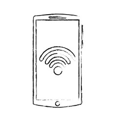 mobile phone gadget wifi internet screen vector image