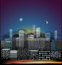 modern cityscape in morning city buildings vector image