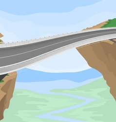 Mountain bridge vector