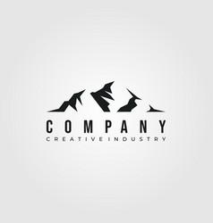mountain logo minimalist design logo vector image