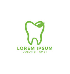 natural leaf tooth logo icon design template vector image