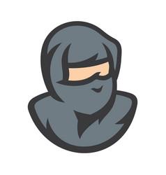 ninja warrior cartoon sign vector image