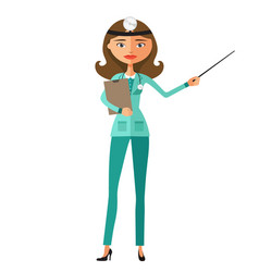 nurse female making presentation vector image