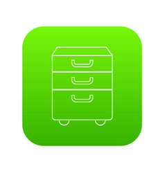 office closet icon green vector image