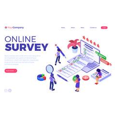 Online survey questionnaire form vector