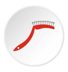 Pet comb icon circle vector