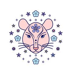 rat chinese zodiac sign i vector image