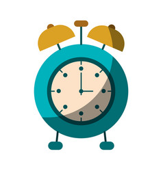 Realistic colorful shading image of alarm clock vector