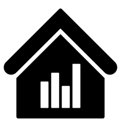 Realty Bar Chart Flat Icon vector image