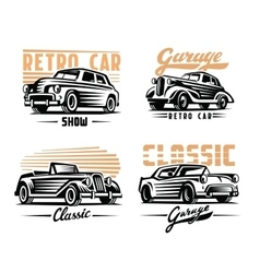 Retro cars emblem vector
