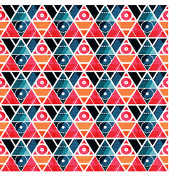 Retro triangles seamless pattern vector