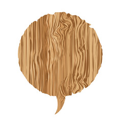 round wood chat bubble icon vector image