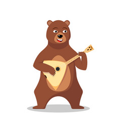 Russian bear character vector