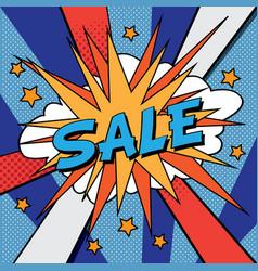 sale pop art banner vector image