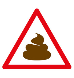 Shit warning flat icon vector