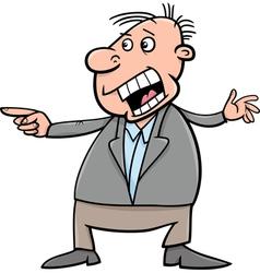 Shouting man cartoon vector