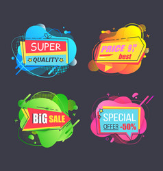 special super price sale abstract stickers vector image