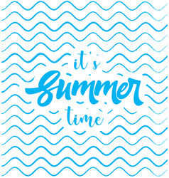 Summer time poster web banner vector