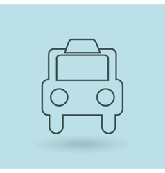 taxi service design vector image