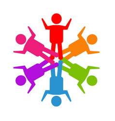 teamwork social media people logo vector image