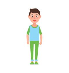 Teenage boy standing poster vector
