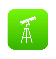 telescope icon digital green vector image