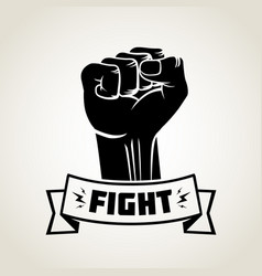 Vintage fight for freedom tattoo template vector