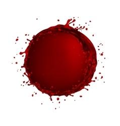 wine splash circle bubble vector image