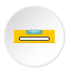 Yellow working tool bubble level icon circle vector