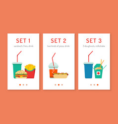 fast food app vector image