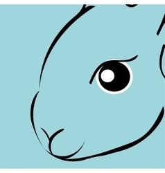 Rabbit animal cartoon vector image vector image