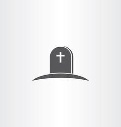 tomb death icon symbol vector image
