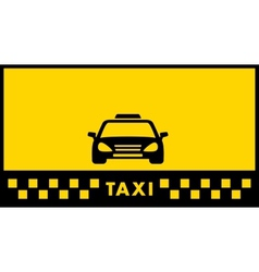yellow taxi background vector image vector image