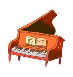 A gland piano is placed vector image