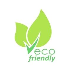 Eco friendly green leaves logo vector