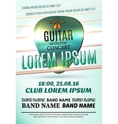 Modern poster for a guitar acoustic concert vector image