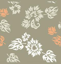 plants seamless pattern wallpaper vector image vector image