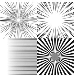 set of radial rays vector image