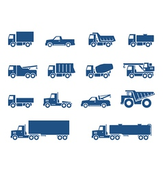 Trucks icons vector image vector image