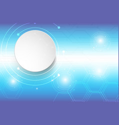 abstract background technology blue design vector image