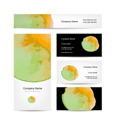 Business cards design abstract watercolor vector